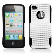 Apple iPhone 4 Black/White Perforated Cover